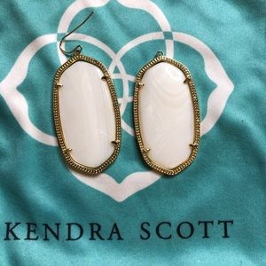 Gold and white Kendra Scott